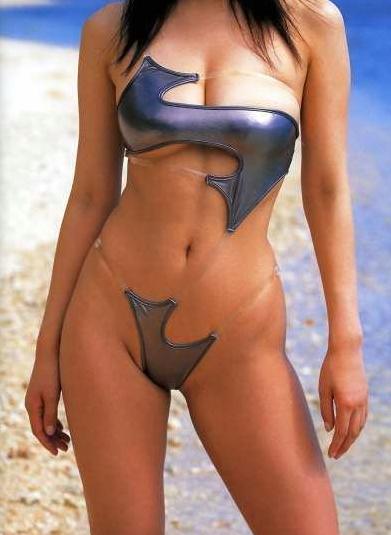 Is Not So Much A Weird Bikini As It An Unusual Model S Cute