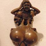 big breasts door knocker