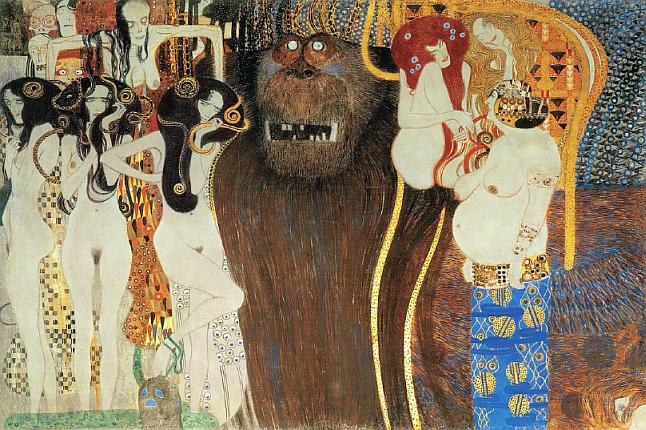 klimt Das Grosse Affe und die Nackte Frauen