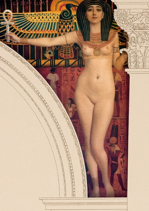klimt egyptian art